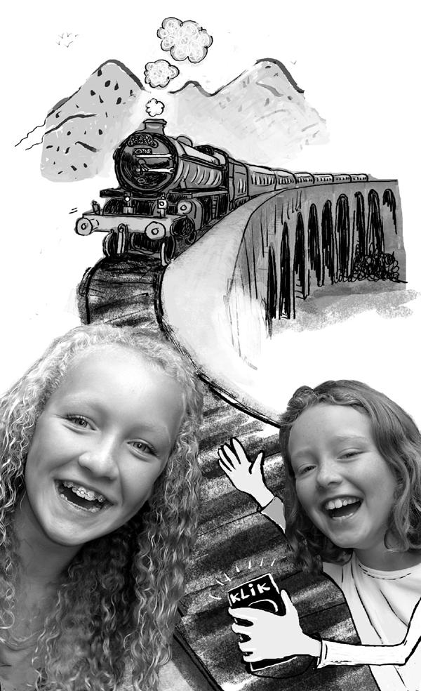 illustratie uit 'Pieke zoekt haar vader'