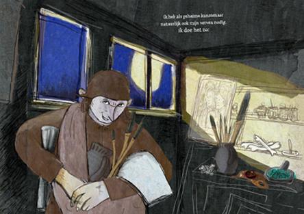 illustratie uit 'schetsboek van Jeroen Bosch'